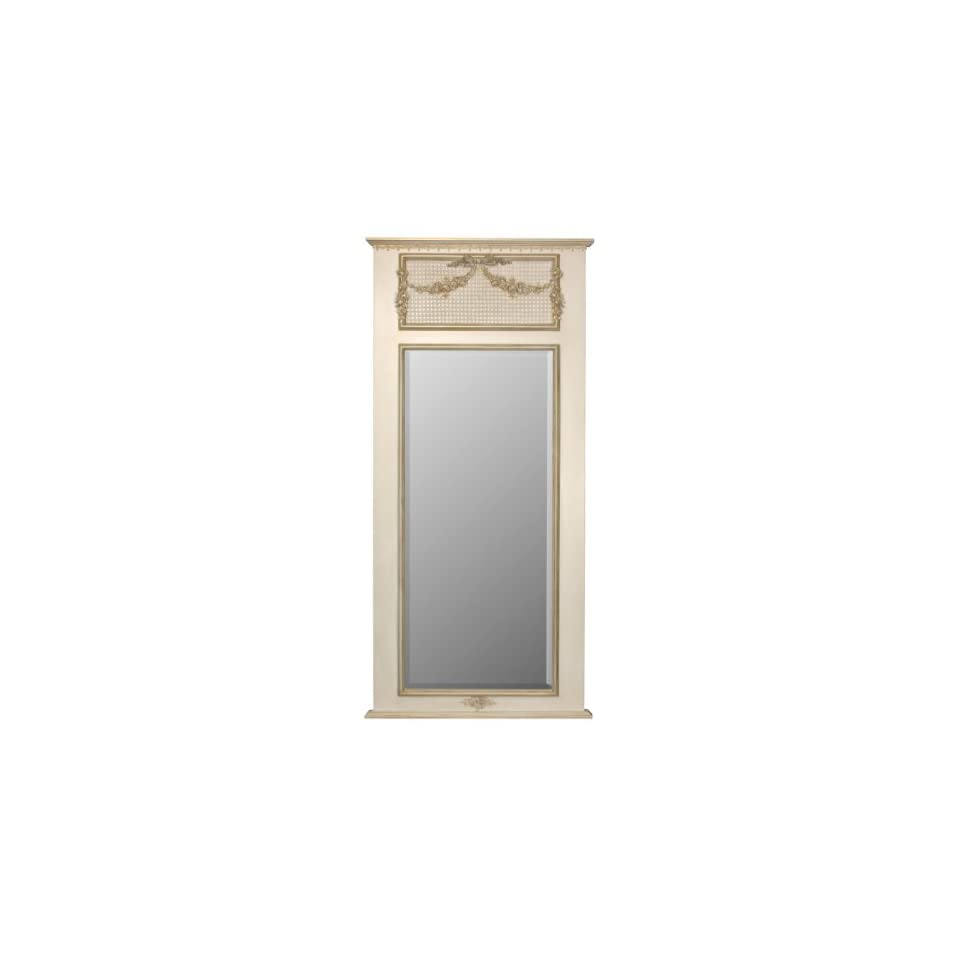 Full Length Trumeau Mirror with Appliquéd Moulding in