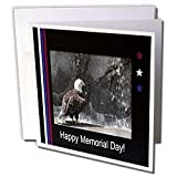 Beverly Turner Memorial Day Design - Memorial Day, Eagle by Waterfall - Greeting Cards-12 Greeting Cards with envelopes