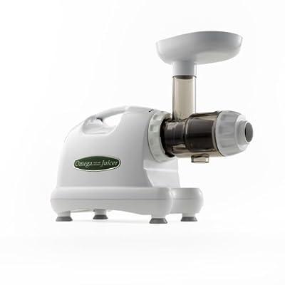 Omega J8004 Nutrition Center Commercial Masticating Juicer, White