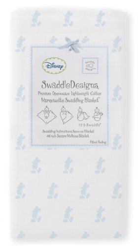 Swaddledesigns Classic Disney Marquisette Swaddling Blanket, Little Mickey front-88476