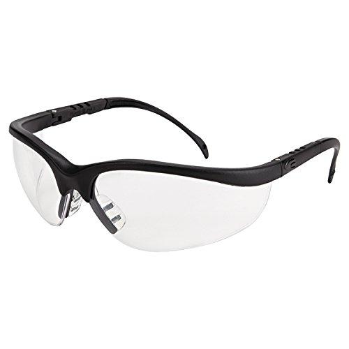 mcr-safety-kd110af-klondike-safety-glasses-with-black-matte-frame-and-clear-anti-fog-lens