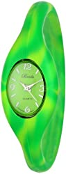 "Breda Women's 2304-Tie dye Green ""Lark"" Sporty Silicone Expansion-Band Watch"