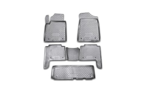 Novline 76.08.210 Infiniti QX56 and Nissan Patrol Floor Mats - Floor Liners - 2011-2014 - Five (5) Piece Set - Black (Nissan Patrol 2014 compare prices)