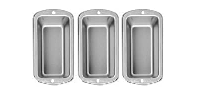 Wilton Recipe Right 3 Piece Mini Loaf Pan Set New