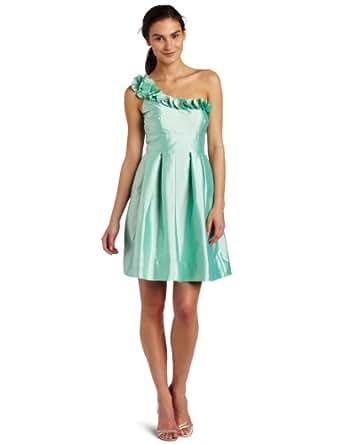 Eliza J Women's Rosette One Shoulder Dress,Bay,4