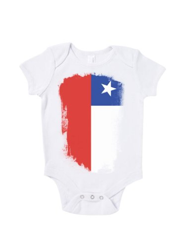 Blue Ivory Chile Distressed Flag Baby Grow Road To World Cup Brazil 2016 front-956052