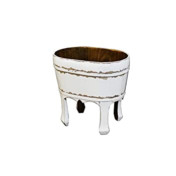 Antique Revival Namas Vintage Bucket, White