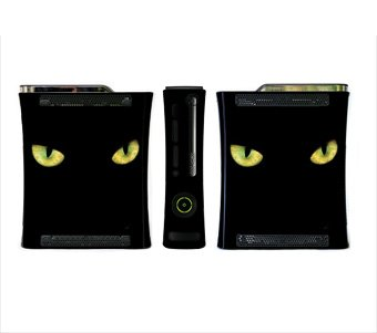 Black Cat Eyes Skin for Xbox 360 Console