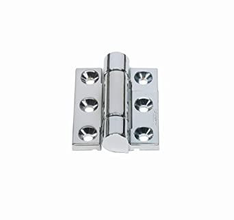 "Friction Hinge with Hole, Zinc Alloy, Satin Chrome, 2-9/16"" Leaf Height, 1-31/32"" Open Width, 13.0 lbs/in Torque per piece (Pack of 1)"