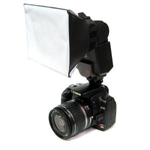 Diffuseur flash Studio doux mini universel pour les appareils photo Canon, Nikon, Olympus, Pentax, Sony, Sigma, Minolta Metz Sigma Sunpak,& autres unités de flashs externes :580ex,420ex,380ex,430ex,SB-900,SB-800,SB-600.