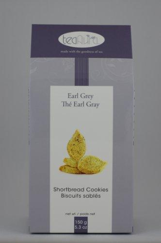 Tea Aura Gourmet Shortbread Cookies, Earl Grey, 5.3-Ounce Boxes (Pack of 4)