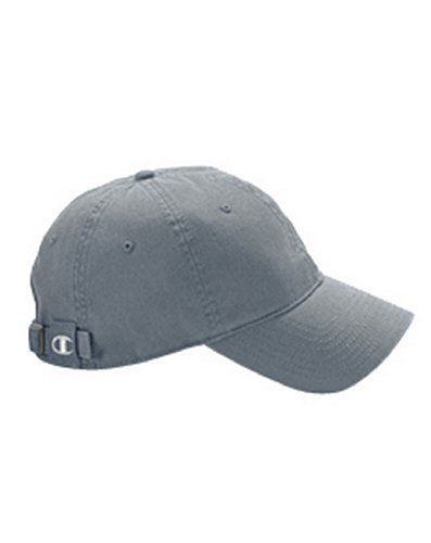 Champion C4001 Brushed Cotton 6-Panel Cap - Steel - One Size (Champion C Caps compare prices)