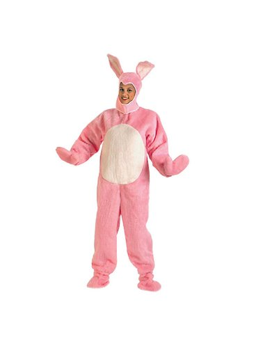 Bunny Pink Open Face Adult Costume