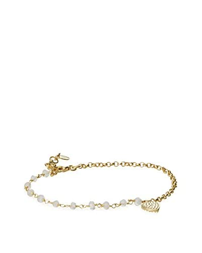 Argento Vivo Bead and Chain Charm Bracelet with Heart