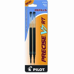 Refill for Precise V7 RT Rolling Ball, Fine Black Ink, 2/Pack, Sold as 1 Package