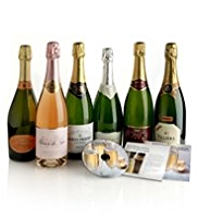 Sparkling Wine Tasting Gift Box - 6 Wines, DVD & Guide