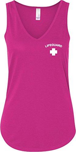 Buy Cool Shirts Ladies Lifeguard Flowy V Neck Tank Top