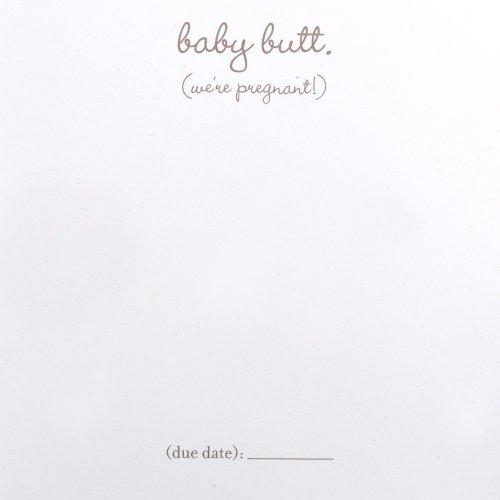 "Tummy Talk ""Guess What?"" Pregnancy Announcements, 10-Count Cards With Matching Envelopes"