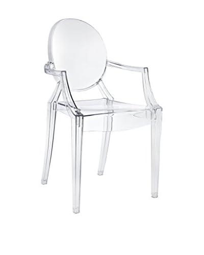 Modway Casper Dining Arm Chair, Clear