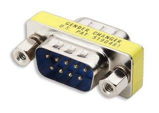 DB9 Mini Gender Changer, DB9 Stecker - DB9 Stecker DB9 Stecker - DB9 Stecker
