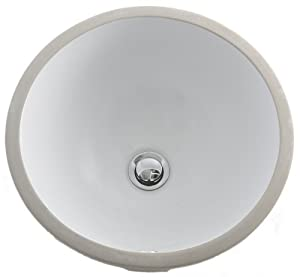 Round Bathroom Undermount Porcelain Sink White Vessel Sinks