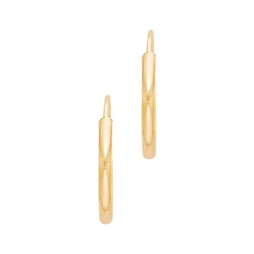 12mm Endless Hoop Earrings in 14K Yellow Gold