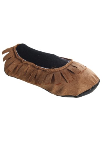 [Adult Indian Moccasins Large] (Indian Man Costume)