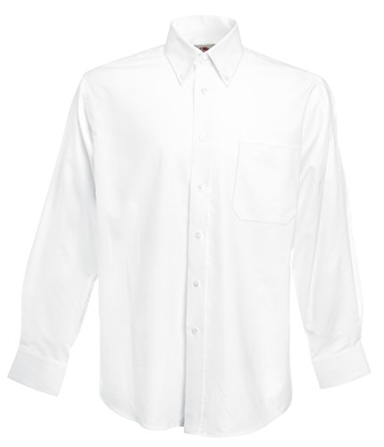 Fruit Of The Loom - Camicia Maniche Lunghe - Uomo (M) (Bianco)