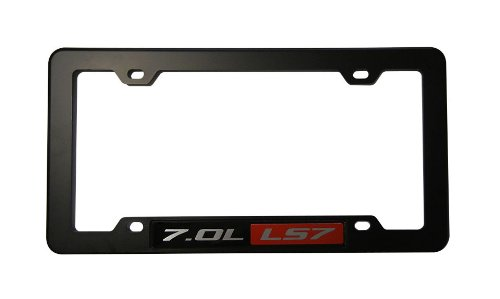 Black License Plate Tag Frame  Red Black 7.0L