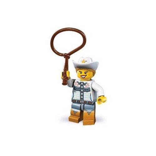 Lego Series 8 Cowgirl Mini Figure - 1