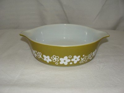 Vintage Pyrex Casserole Dish - Crazy Daisy Design - 500 ml - #471-B