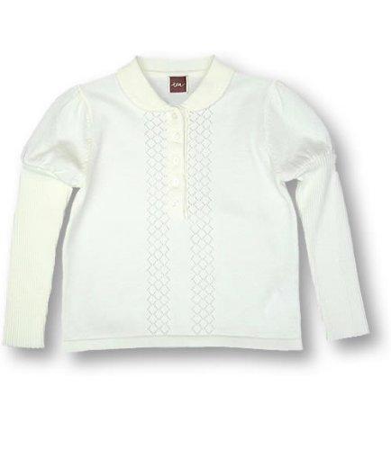 Tea Milk Anna Polo Jumper, Knitwear, Girls, 4T