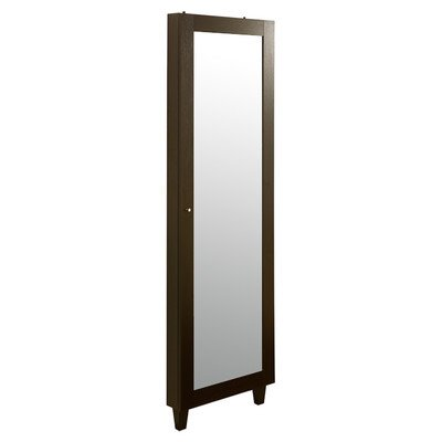 Claire Wall Mounted Jewelry Armoire With Mirror front-365261