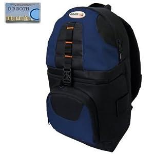 Deluxe Digital SLR Camera/Camcorder Sling Backpack (Black/Blue) For The Nikon D5000, D3000 Digital SLR Cameras