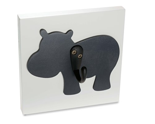 Homeworks Etc Hippo Single Wall Hook, Charcoal Grey front-481881