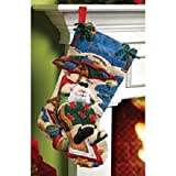 Bucilla 18-Inch Christmas Stocking Felt Applique Kit, 86105 Coolin It