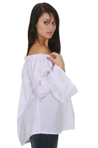 Renaissance Halloween White Chemise Shirt Medieval Peasant Girls Blouse