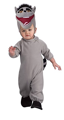 Nickelodeon The Penguins Of Madagascar Romper Costume, King Julien, Toddler Size front-757019