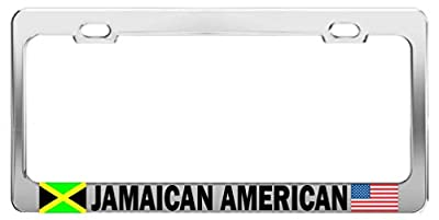 JAMAICAN AMERICAN Nationality Country Tag License Plate Frame Car Accessory
