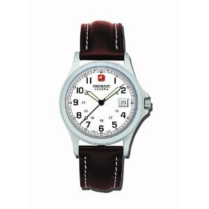 Swiss Military Hanowa Men's 06-4013-04-001 Conquest White Dial Leather Strap Watch