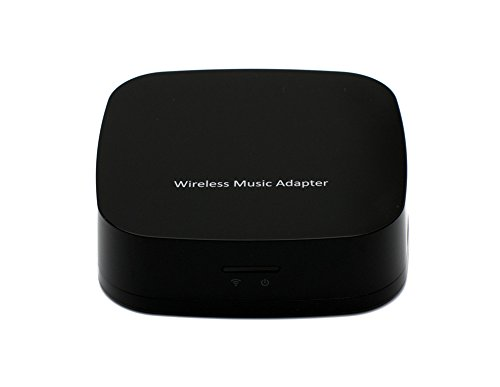Ansmart Wi-Fi Music Receiver/Range Extender - Wireless Music Adapter For Home Or Car Hi-Fi Speaker System Over Wi-Fi Network From Any Smartphone, Tablet Or Notebook - Suport Dlna Airplay - Black