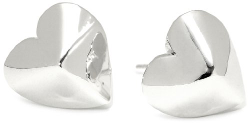 HAN CHOLO Silver Heart Stud Earrings