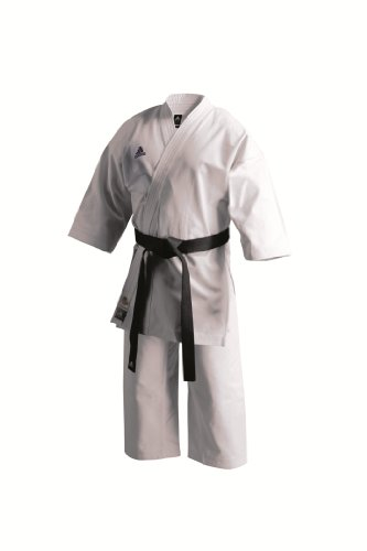 Adidas K460E Unisex Karate Uniform - White, 7/200 Cm