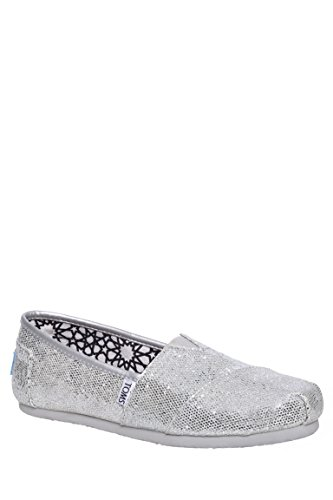 Women's Classic Glitter Canvas Slip On Shoe