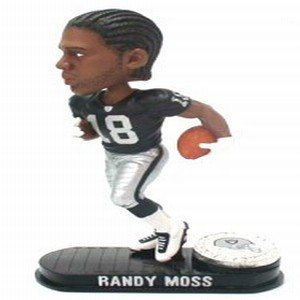 Buy Low Price Forever Collectibles Oakland Raiders Randy Moss Forever Collectibles Black Base Edition Bobble Head Figure (B000I7LQSK)