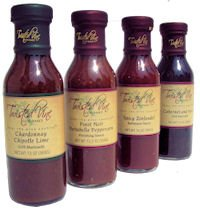 Twisted Vine Gourmet - Mixed 4 Pack Cabernet And Herb Grill Marinade Spicy Zinfandel Barbeque Sauce Pinot Noir Portabella Peppercorn Finishing Sauce And Chardonnay Chipotle Lime Grill Marinade 2749
