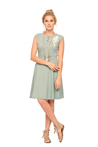Octopus Skate Dress M In Aqua back-1005884