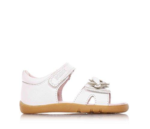 BOBUX - Sandalo bianco, scarpa, Ballerina, in pelle traspirante, flessibile, chiusura a strappo, materiali non tossici, Bambina-20