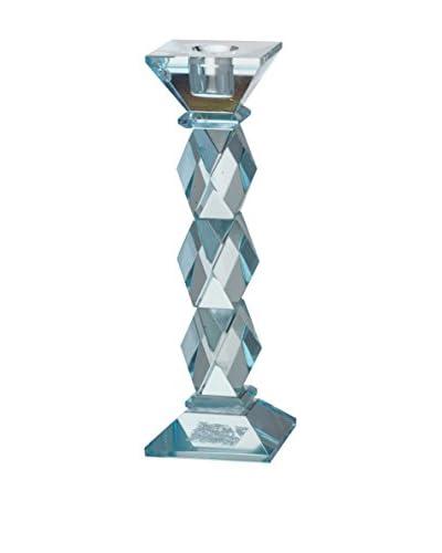 David Tutera 8″ Crystal Candleholder, Blue