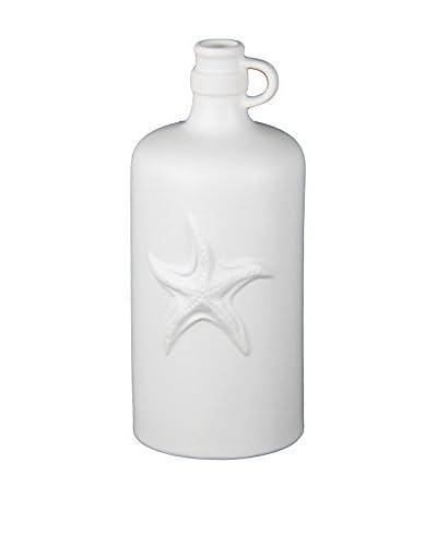 Privilege International White Ceramic Starfish Vase
